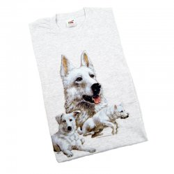 T-shirt White Swiss Shepherd Dog