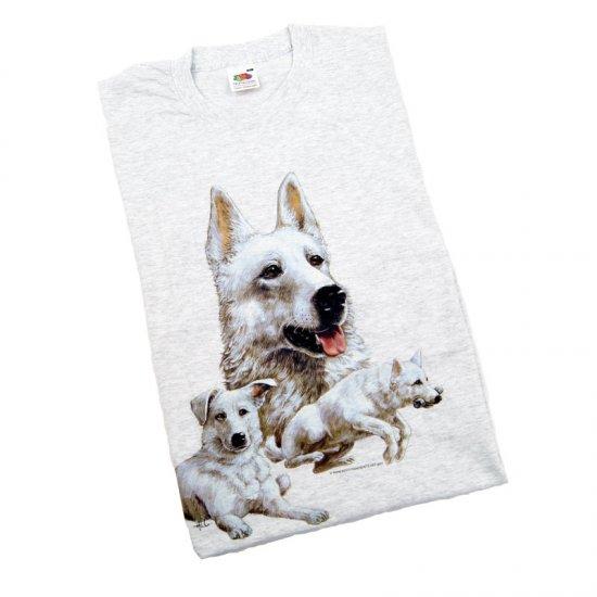T-shirt Vit Herdehund