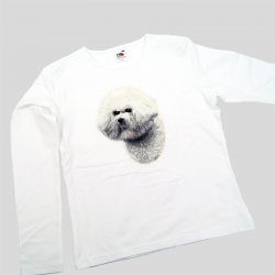 Ladies Longsleeve Top Bichon Frisé