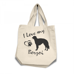Borzoi - Cotton Bag (vinyl print)