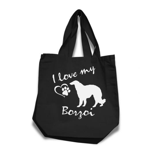 Borzoi - Cotton Bag (vinyl print)