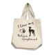 Italian Greyhound - Cotton Bag (vinyl print)19