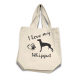 Whippet - Cotton Bag (vinyl print)