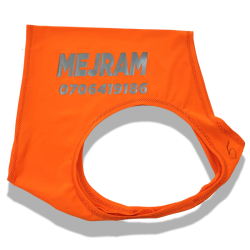 Safety Vest with Reflective Text