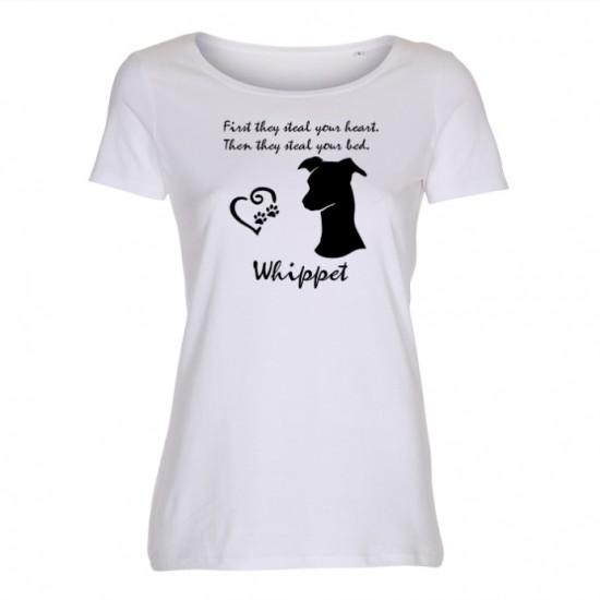 Whippet - dam t-shirt