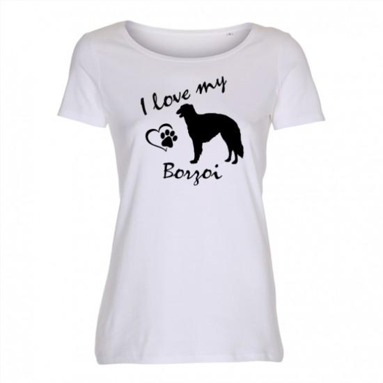 Borzoi - dam t-shirt