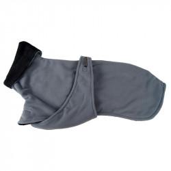 Enfärgat fleecetäcke - bröstlapp - L