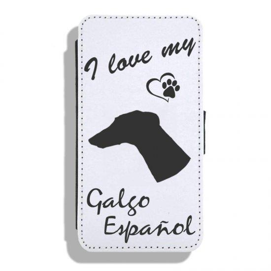 Galgo Español - Leather Flip Case