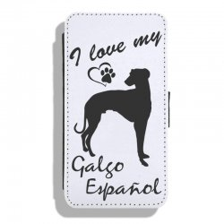 Galgo Español - Leather Flip Case