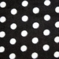 Spotted fleece coat - large