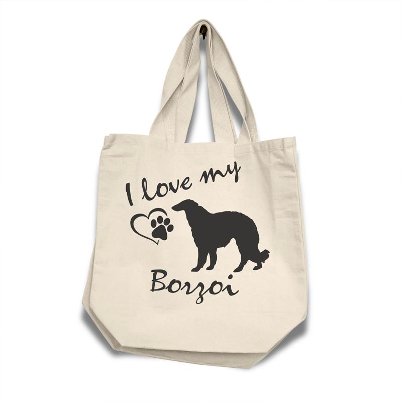 Borzoi - Cotton Bag (vinyl print)18
