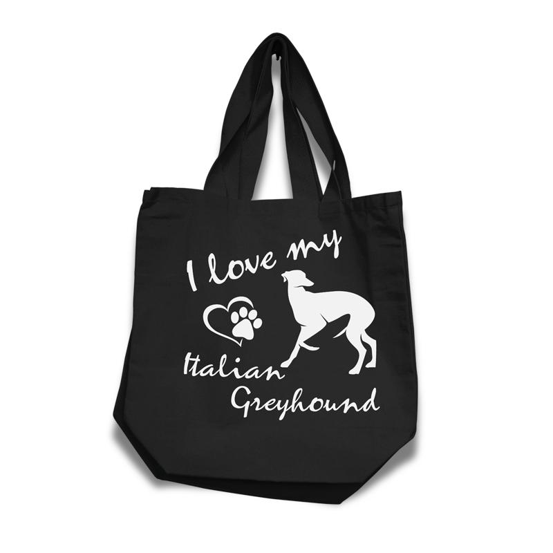 Italian Greyhound - Cotton Bag (vinyl print)