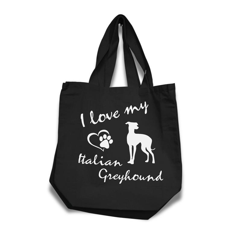 Italian Greyhound - Cotton Bag (vinyl print)18