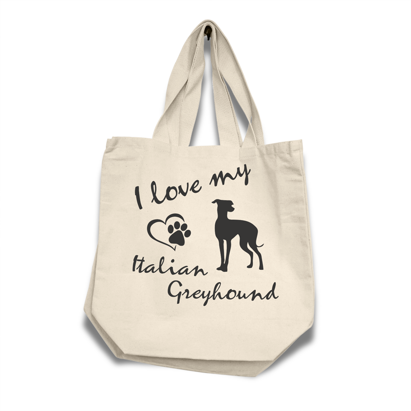 Italian Greyhound - Cotton Bag (vinyl print)17