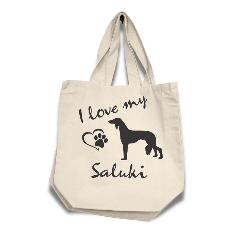 Saluki - Cotton Bag (vinyl print)18