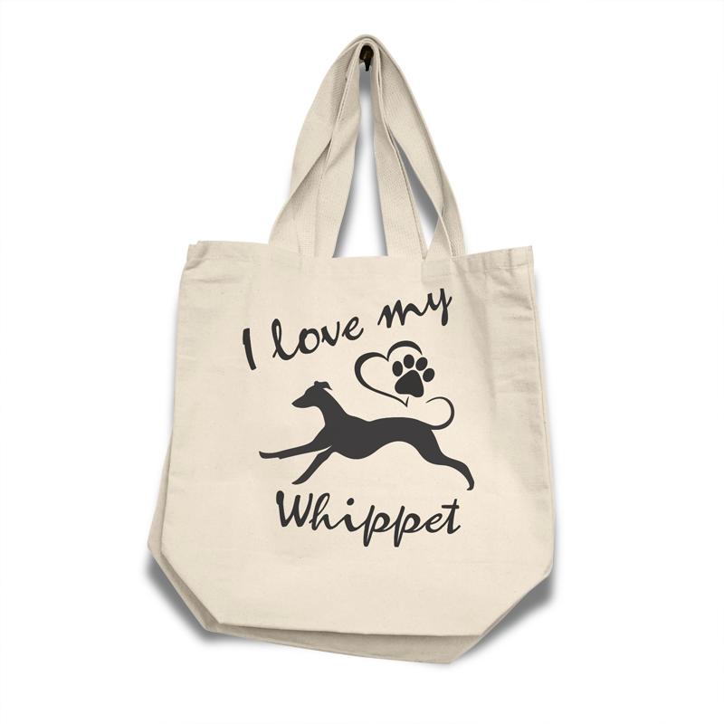 Whippet - Cotton Bag (vinyl print)
