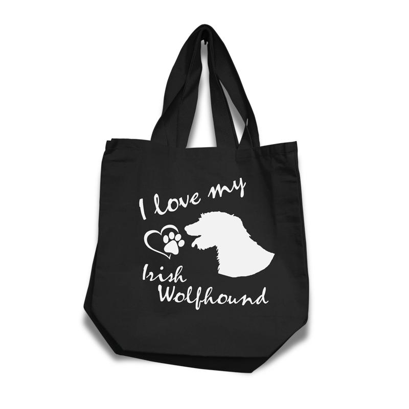 Irish Wolfhound - Cotton Bag (vinyl print)18