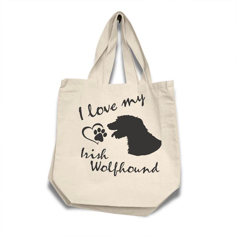 Irish Wolfhound - Cotton Bag (vinyl print)17