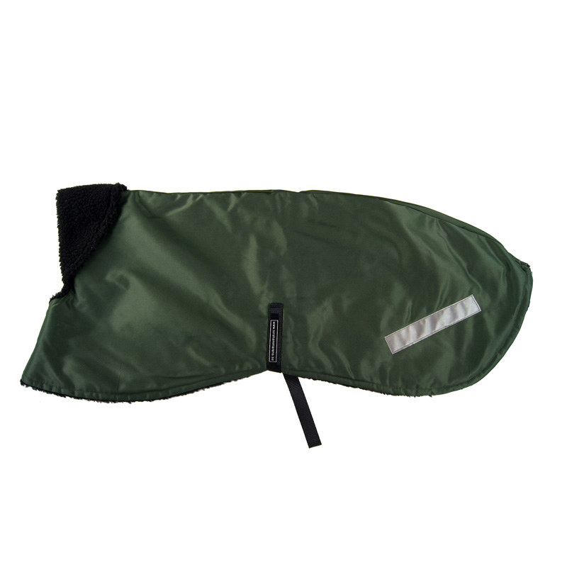 Winter Coat Olive Beaver Nylon - L17