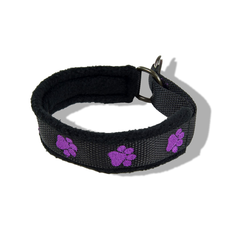 Embroidered Collar - Pawprints21