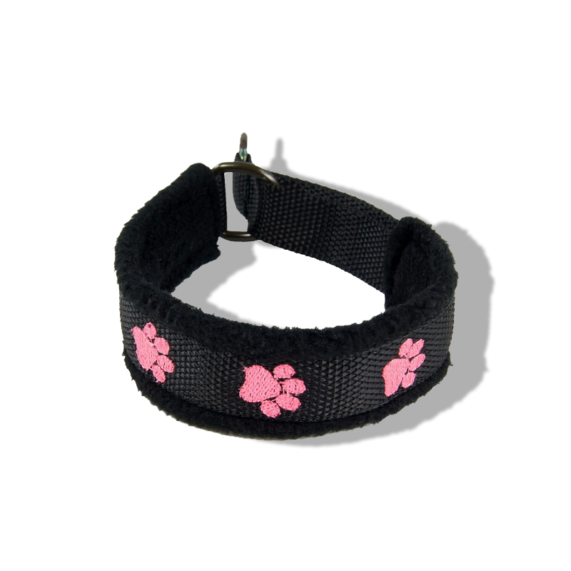 Embroidered Collar - Pawprints17