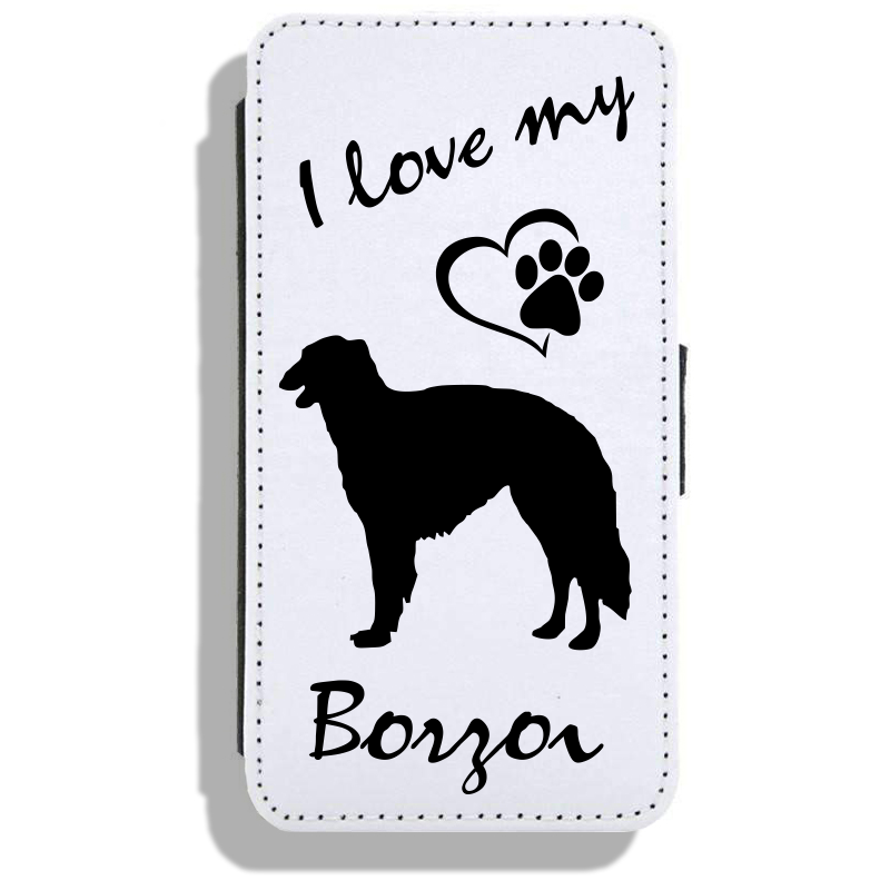 Borzoi - Leather Flip Case17