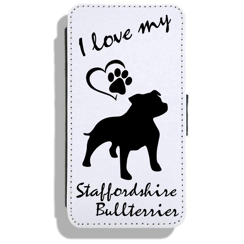 Staffordshire Bullterrier - Leather Flip Case17